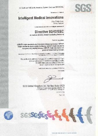 GERATI ISO CE certificate web